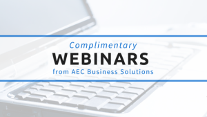 Free educational webinars from AEC Business Solutions. Earn CEUs.