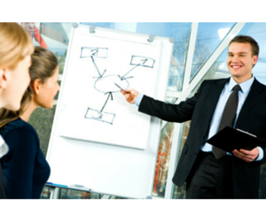Group of project managers during training