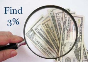 Make 3% More Profit by Finding Lost Dollars with Magnifying Glass
