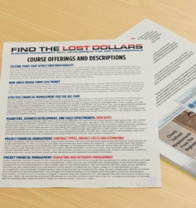 Find the Lost Dollars Training Course Offerings and Descriptions