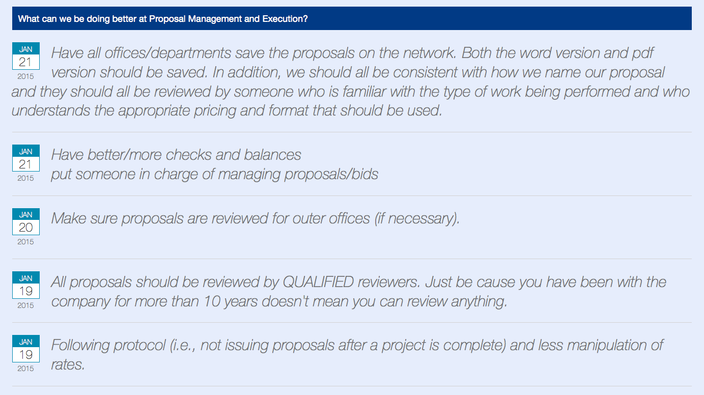 Proposal Management